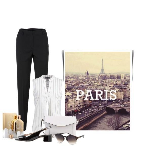 Zestaw z  1 lipiec, składający się m.in. z Okulary damskie Prius, Bluzka More & More, Perfumy Calvin Klein.