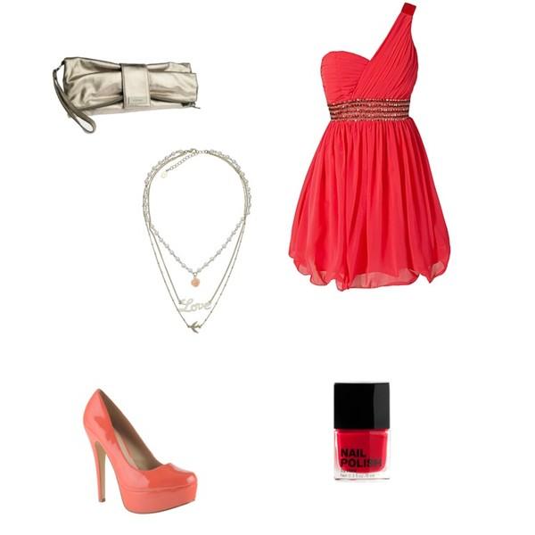 Zestaw z  8 sierpień 2012, składający się m.in. z Sukienka Little Mistress, Produkt do pielęgnacji H&M, Naszyjnik Accessorize.