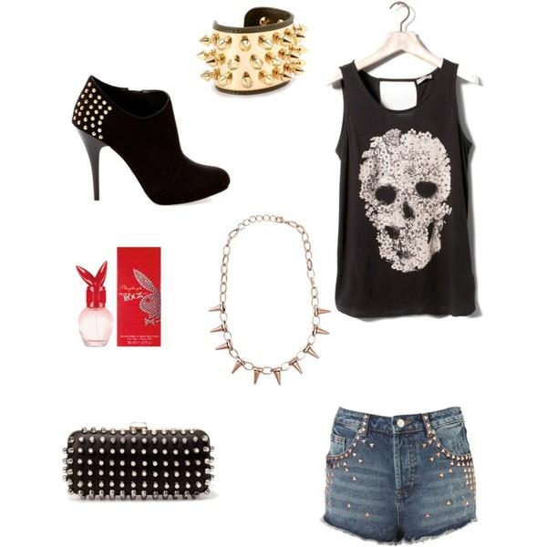 Zestaw z  8 sierpień 2012, składający się m.in. z Biżuteria Aurélie bidermann, Szorty Topshop, Biżuteria Nelly Trend.