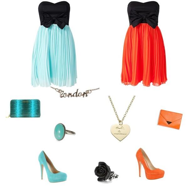 Zestaw z  9 sierpień 2012, składający się m.in. z Sukienka Te Amo, Sukienka Te Amo, Pierścionek Accessorize.