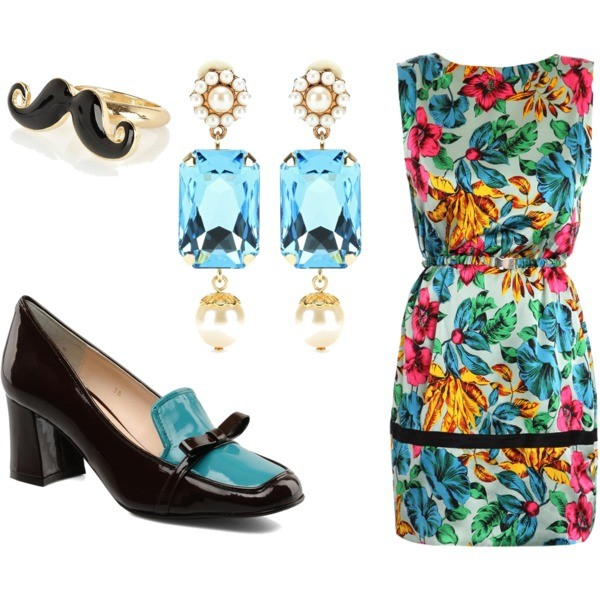 Zestaw z 13 wrzesień 2012, składający się m.in. z Biżuteria Dolce & Gabbana, Sukienka Marc by Marc Jacobs.