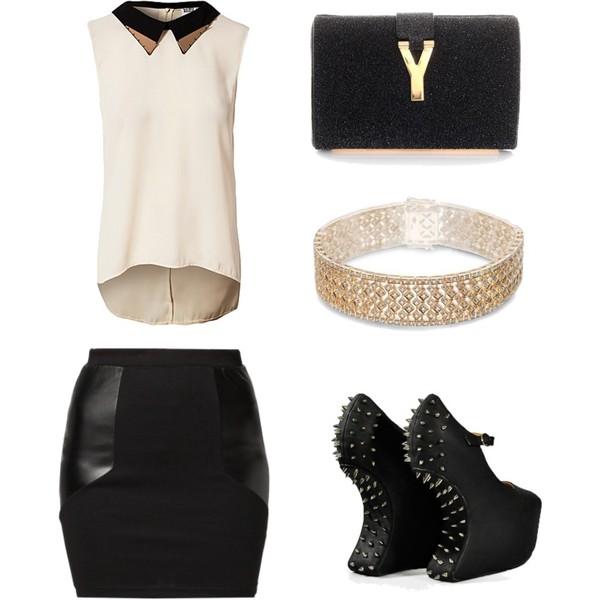 Zestaw z 30 grudzień 2012, składający się m.in. z Bransoletka YES, Spódnica Even&Odd, Top Vero Moda.