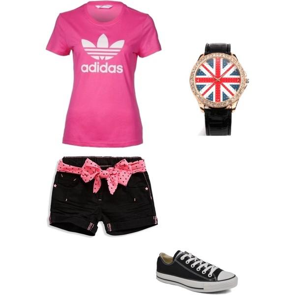 Zestaw z 12 kwiecień 2013, składający się m.in. z Trampki Converse, T-shirt Adidas Originals, Zegarek Oasap.