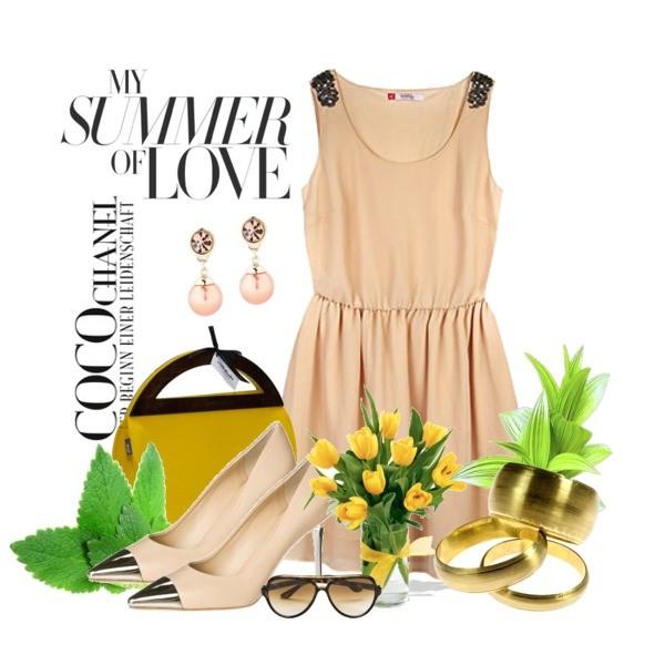 Zestaw z 12 czerwiec 2013, składający się m.in. z Czółenka  The Seller, Sukienka Reserved, Czółenka  The Seller.