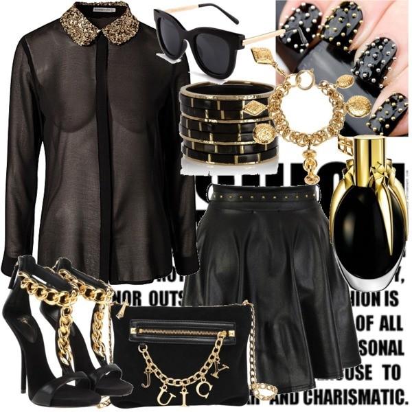 Zestaw z 22 lipiec 2013, składający się m.in. z Perfumy Lady Gaga, Okulary damskie Romwe, Bluzka Soaked in Luxury.