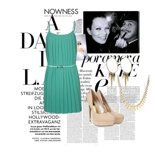 Zestaw z  2 październik 2013, składający się m.in. z Sukienka BEST MOUNTAIN, Kolczyki  Club Manhattan, Szpilki  Blink.