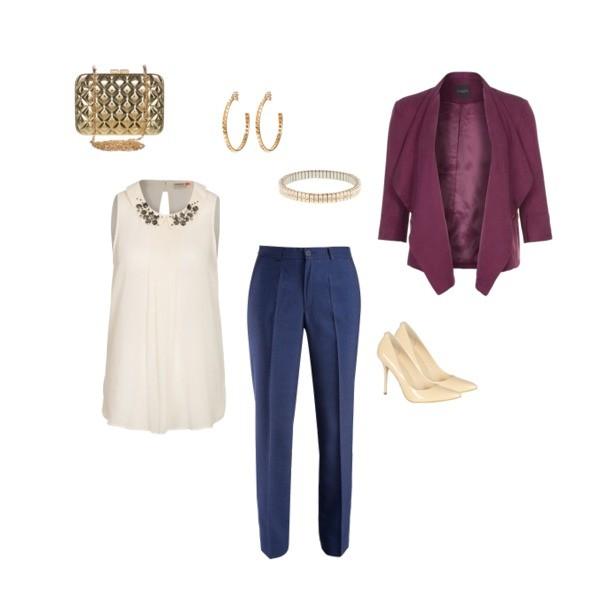 Zestaw z 18 grudzień 2013, składający się m.in. z Bluzka Only, Marynarka Selected Femme, Szpilki  Guess Jeans.