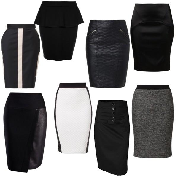 Zestaw z  7 styczeń 2014, składający się m.in. z Spódnica Object, Spódnica bonprix, Spódnica By Malene Birger.