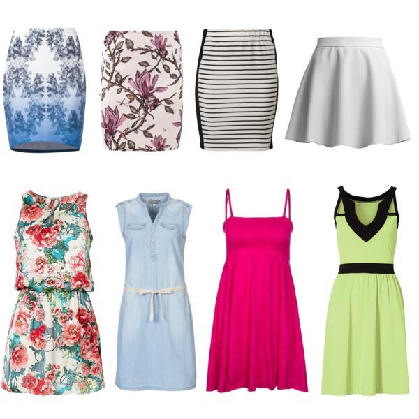Zestaw z 14 maj 2014, składający się m.in. z Sukienka McGregor, Spódnica Bruuns Bazaar, Spódnica Zalando Collection.