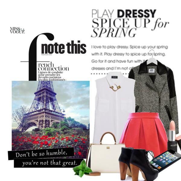 Zestaw z  2 luty 2015, składający się m.in. z Płaszcz Vero Moda, Spódnica Ivon.