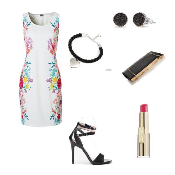 Zestaw z 25 maj 2015, składający się m.in. z Torebka Verostilo, Sukienka bonprix, Szminka/błyszczyk L'Oréal Paris.