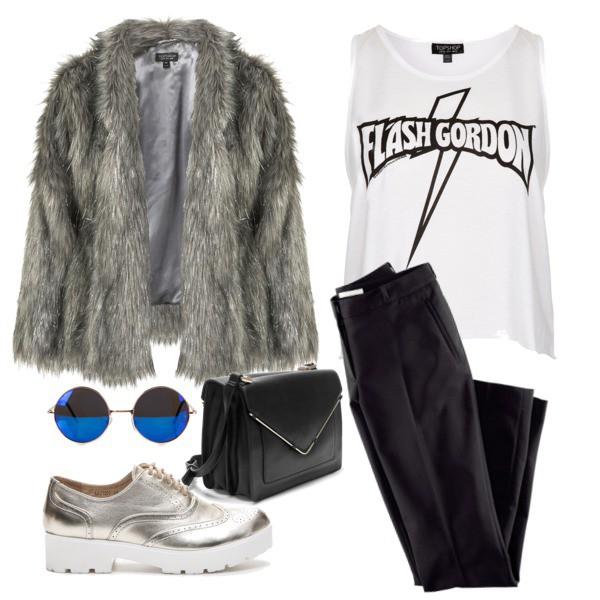 Zestaw z 27 maj 2015, składający się m.in. z Spodnie H&M, Okulary damskie NLY ACCESSORIES, Półbuty  LA BOTTINE SOURIANTE.