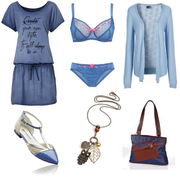 Zestaw z 30 maj 2015, składający się m.in. z Biżuteria bonprix, Sweter bonprix, Majtki bonprix.