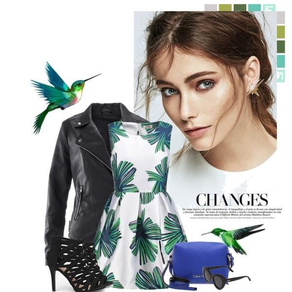 Zestaw z  1 kwiecień 2016, składający się m.in. z Torebka Calvin Klein Jeans, Sandały Renee, Kurtka bonprix.