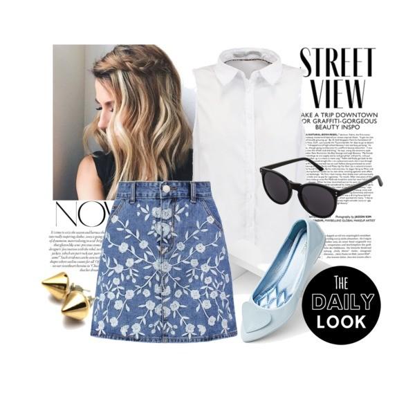 Zestaw z 16 lipiec 2016, składający się m.in. z Koszula Guess, Spódnica Glamorous, Okulary damskie Mint&berry.