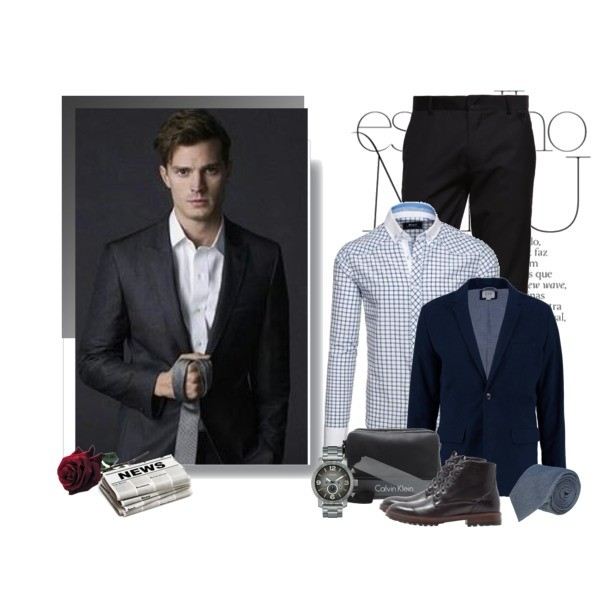 Zestaw z 14 luty, składający się m.in. z Krawat Recman, Koszula Denley, Spodnie Eleven Paris.