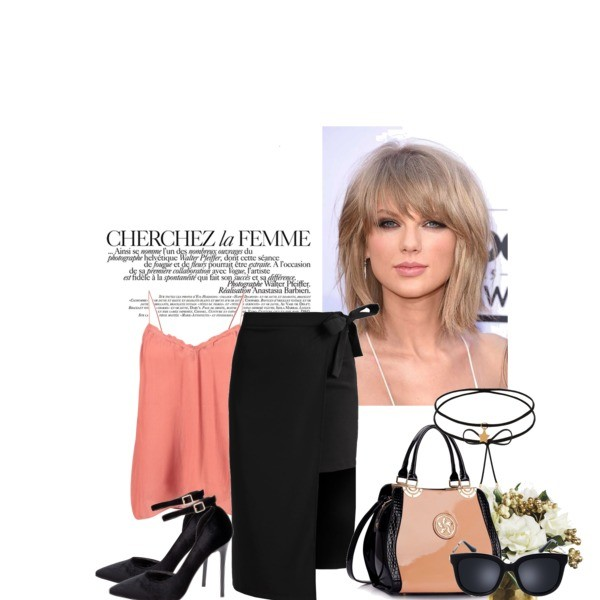 Zestaw z 29 marzec, składający się m.in. z Okulary damskie Prima Moda, Spódnica Fashion Union Tall, Naszyjnik Wishbone.