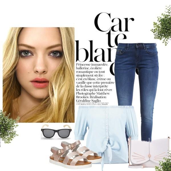 Zestaw z 25 maj, składający się m.in. z Jeansy Calvin Klein Jeans, Torebka Ted Baker, Bluzka Noisy May Petite.