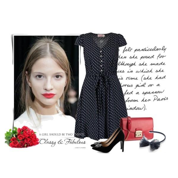 Zestaw z  3 czerwiec, składający się m.in. z Ozdoba do włosów Sinsay, Szpilki  Prima Moda, Sukienka Louche.