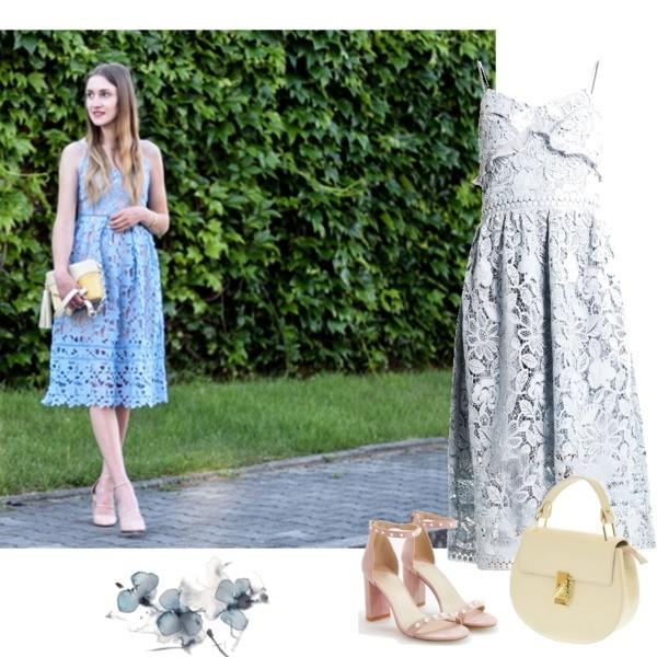 Zestaw z 17 czerwiec, składający się m.in. z Sukienka True Decadence, Sandały Reserved, Torebka Vera Pelle.