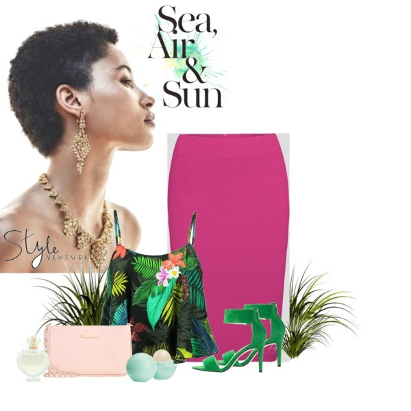 Zestaw z  7 lipiec, składający się m.in. z Perfumy Paco Rabanne, Kosmetyk do makijażu Eos, Top Desigual.
