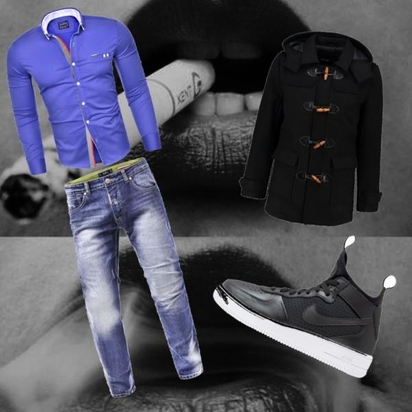 Zestaw z  9 lipiec, składający się m.in. z Trampki Nike Sportswear, Koszula Risardi, Kurtka Only & Sons.