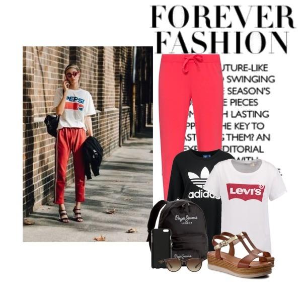 Zestaw z  1 sierpień, składający się m.in. z Akcesoria Wittchen, Bluza Adidas Originals, Okulary damskie Ray-Ban®.