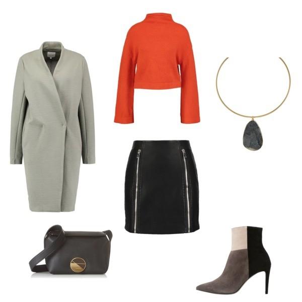 Zestaw z 15 wrzesień, składający się m.in. z Spódnica Eleven Paris, Jeansy Calvin Klein, Botki Kennel + Schmenger.