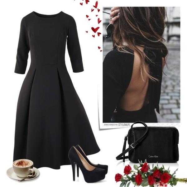 Zestaw z 19 wrzesień, składający się m.in. z Sukienka RED 5 by anja, Szpilki  Brilu, Torebka Calvin Klein.