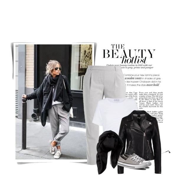Zestaw z 17 październik, składający się m.in. z T-shirt adidas by Stella McCartney, Szalik Calvin Klein Black Label, Okulary damskie Ray-Ban.