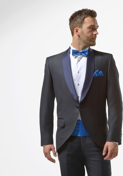 df52f924d123f Granatowy smoking męski slim - Midnight Blue Tuxedo