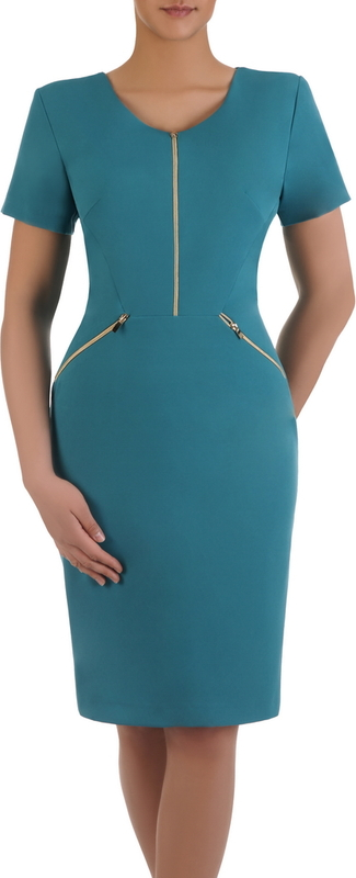 Sukienka z ozdobnymi zamkami Emilia V, piękna kreacja w