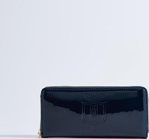 8c8855ba15632 Mohito - Lakierowany portfel - Granatowy