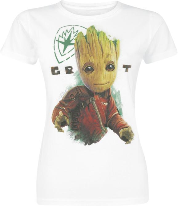 042583ced Guardians Of The Galaxy 2 - Groot Koszulka damska biały