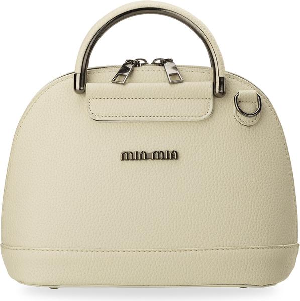 7f21627e31890 Mały gustowny kuferek usztywniany handbag + gratis brelok-pompon - kremowy
