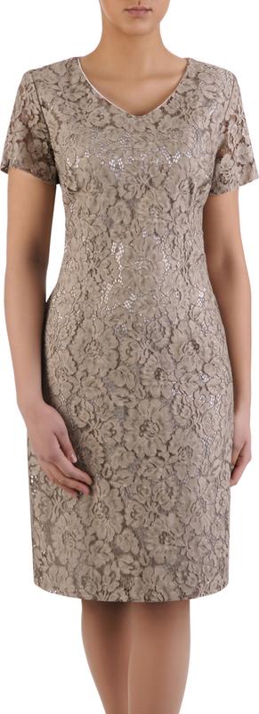 Sukienka na wesele Gracia IX, elegancka kreacja z gipiury.