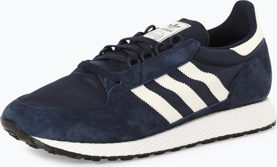 adidas Originals - Tenisówki męskie z dodatkiem skóry – Forest Grove, niebieski