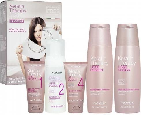 Alfaparf Milano Alfaparf Lisse Design zestaw do keratynowego prostowania + szampon i odżywka