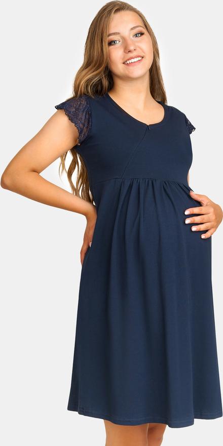 Anda Koszulka ciążowa i do karmienia Litzy ciemny-niebieski