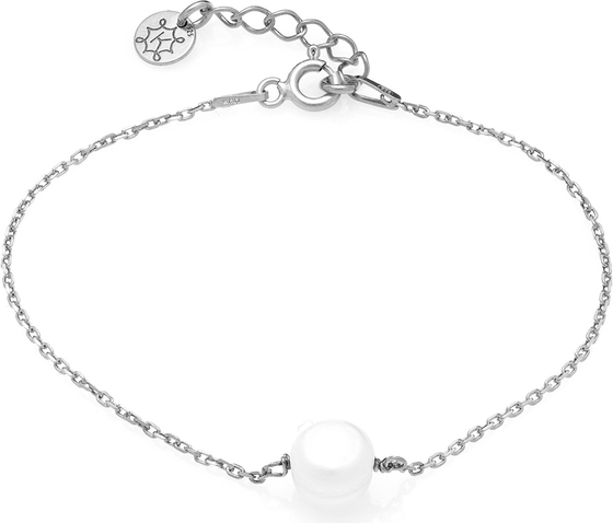 ANIA KRUK Bransoletka ARIEL srebrna z naturalną perłą