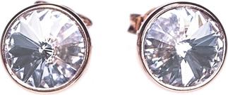 Ania Kruk Kolczyki AIDA srebrne pozłacane na różowo z kryształem Swarovskiego