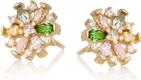 ANIA KRUK Kolczyki IRIS srebrne pozłacane z kolorowymi kryształkami