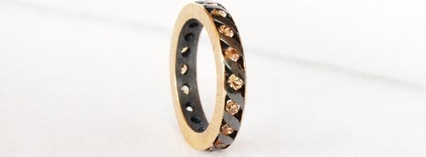 Astorga Subtelna obrączka ze srebra i złota