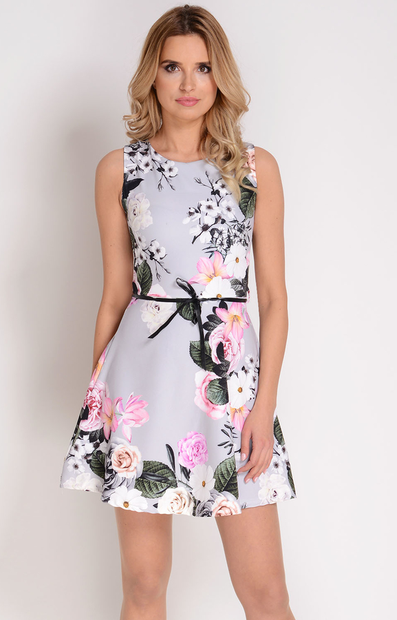 7cfd32fcb183df Avaro rozkloszowana sukienka w kwiaty su-1308