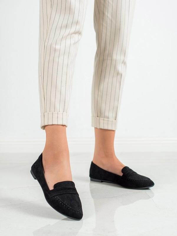 Baleriny Czasnabuty z płaską podeszwą w stylu casual