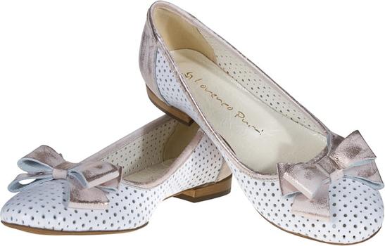 Baleriny Lafemmeshoes w stylu casual z płaską podeszwą ze skóry