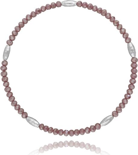 Basic Bransoletka z kryształków - lawendowy BBA0017