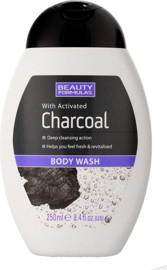 Beauty Formulas, Charcoal, żel do mycia ciała z aktywnym węglem, 250 ml