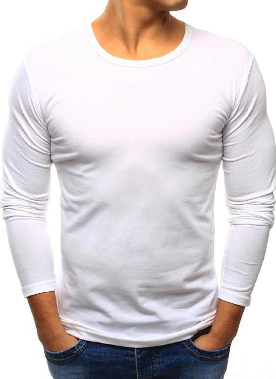 Biała koszulka z długim rękawem dstreet z długim rękawem bez wzorów