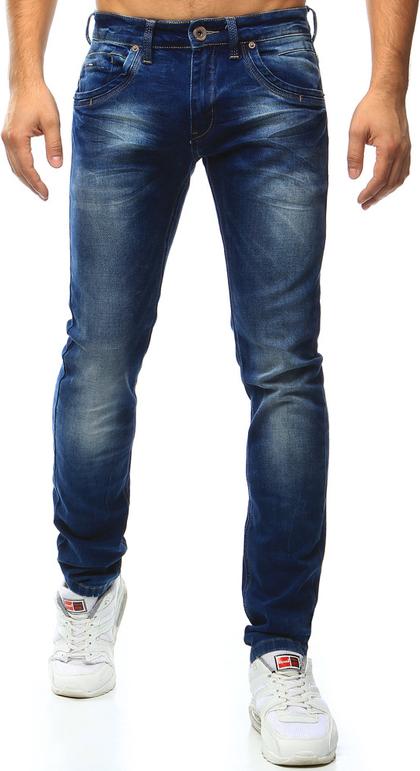 Białe jeansy dstreet bez wzorów
